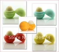 2012 Hot sale !! NEW BRAND Ball natural organic embellish lip balm,lip care 7G,6pcs/lot Free shipping