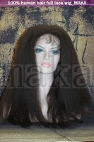 """THE FASHIONALEST PRODUCTION!!!  100%Virgin huamn remy  hair, full lace wig, KINKY  STRIGHT, 8--24"""", 0.3kg/pcs"""