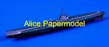 [Alice papermodel] Long 35CM 1:180 WWII sms U Boat U-Boot U-35 submarine battleship models