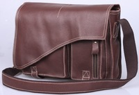 Free shipping Newest Genuine leather Mens Satchel Messenger shoulder Cross body bags TIDING 1033