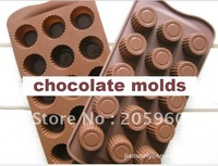 Wholesale Free Shipping -(50 pcs/Lot) Silicone Chocolate molds Ideal for molding Candy,Jelly,Ice Cube etc