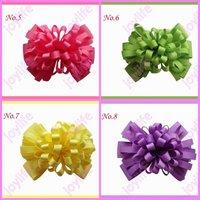 free shipping 45pcs fashion 4'' Fireworks hair bows boutique girl hair bows popular girl hair bows