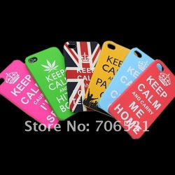 50Pcs/Lot, Free Shipping, Different Styles Availble, For iPhone 4S 4 4G Slogan Case, Plastic Meterial(China (Mainland))