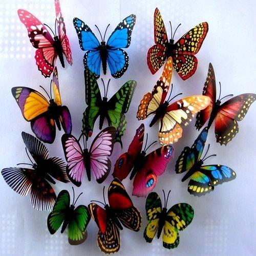 Buy new mixed 10 colors felt border for Decoration murale papillon 3d