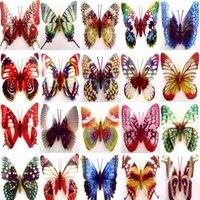 Free shipping - 36PCS, 10cm big size noctilucent artficial butterfly  Luminous Fridge magnet / refrigerator magnet