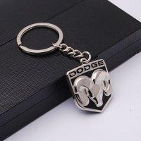 New!!! Fashion 3D Dodge Silver keychain keyring key chain Ring key Fob key009