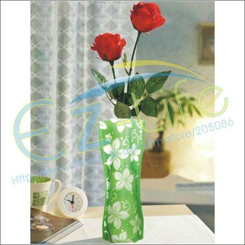 500-pieces-lot-PVC-plastic-folding-flower-vase-portable ...