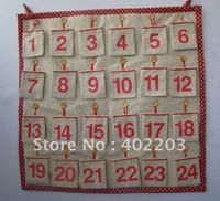 christmas decoration-CHRISTMAS Calendar Best Christmas Decor-1-24GIFT POCKET-square shape--HANDWORK