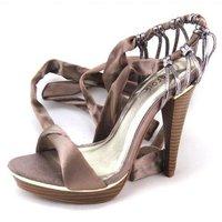 Free Shipping,Soft Satin Fabric Cross Strap #635 Fashion Brand  High Heel Platform Shoes,Size 35-39,Womens/Ladies Shoes