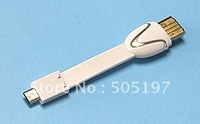Mobile phone data cable charms power cable w/ micro sd card reader,FREE SHIPPING