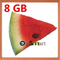 5pcs/Lot Wholesale Cool 8GB USB 2.0 Flash Memory Stick Drive Pen Fruit Watermelon Pattern + Free Shipping
