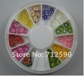 Free shipping  100pcs/lot   Fruit Flower  Slice Nail Art Glitter Tips Decoration,high quality+low price