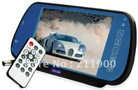 7 Inch TFT LCD Multimedia Player Rearview Mirro Monitor - MP5 - FM Transmitter - USB - SD Slot