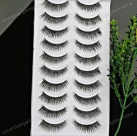 10 Pairs Black Long Thick False Fake EyeLashes Eye Lashes Fibre Makeup Natural #02 Free shipping