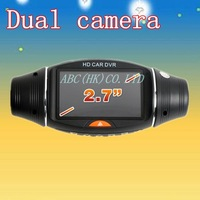 "Good Quality SC310 Car Black Box with GPS Logger 2.7"" big screen HD Dual Camera Car DVR G-Sensor 1280*480 30pfs"