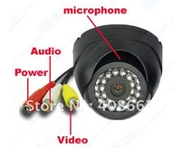 "Security IR Indoor Blakc 650TVLFree Shipping  1/3"" Sony  CCD Audio Camera S23a650"