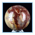 "hot 50mm(1.97"") Natural Crazy Lace Agate Stone Sphere, Ball Carving #4R21,healing Gemstone"
