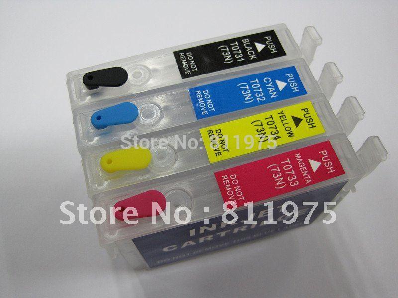 5sets/lot t0731- t0734 73 nachfüllbare tintenpatrone für epson cx5500 cx5505 cx5510 cx5501 c90 drucker auto reset chip
