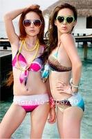(10pcs/lot) Free Shipping 2012 Crazy Hot Atmospheric Ladies'/Women Bikini Swimmsuit,Sexy Swimmwear,Fashion Gradient Bikini Set