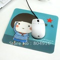 FIRST LINE Cartoon Cute Babies Antiskid PVC Mouse Pad Mat 4 designs assorted delivery ST0753