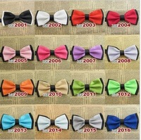 Free shipping Mixed Wholesale women bow ties Imitation silk ties Cool boy's Fashion accessory  clothing 32pcs/lot