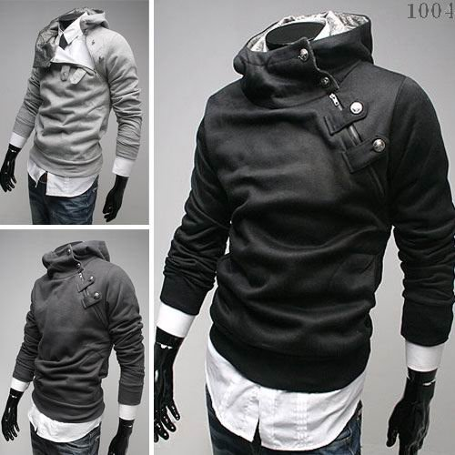Free Shipping 2014 NEW Hot High Collar Men's Jackets ,Men's Sweatshirt,Dust Coat ,Hoodies Clothes,cotton wholesale(China (Mainland))