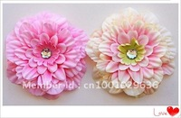 "Free Shipping 4"" MUM Poney Flower Head, Hair Accessorries Flowers Multicolor to choose 120pcs/lot"