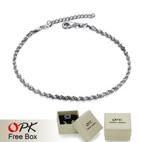 OPK JEWELRY Free Shipping White gold plated Anklet  foot jewelry  New Arrive Hot Fashon 183