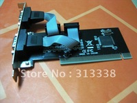 Free Shipping brand New 10psc/lot PCI to Serial 2-port  Card based best card