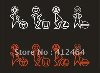FREE SAMPLES!!! Freeshipping!!Wholesale Double-sided printing sticker, vinyl decal die cut sticker