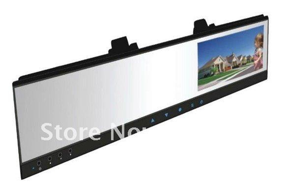 HD Car DVR +4.3''TFT monitor Rearview mirror inside camera record and backside camera reversing(China (Mainland))