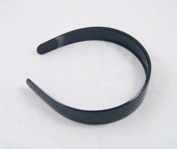 "20X  White & Black Headbands Blank Plain Plastic hairbands ,headwear 1"" with Teeth Drop shipping"