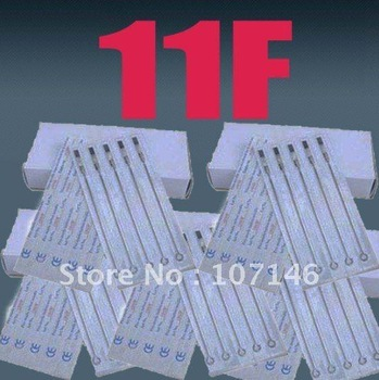 100x 11F Tattoo Needles Pre-made Flat Shader Size Needle Tattoo Kits Supply For Tattoo Artists Excellent