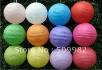 200ps/lot +Free shipping 8'' round paper lanterns lamp for wedding/ xmas /decoration/party/birthday ,white//orange/yellow color