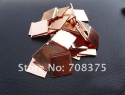 Wholesale 50pcs/lot Heatsink Copper Pad Shim 15MM*15MM*0.8MM for HP DV2000 V3000 DV9000 M1210 Heat cpu Free shipping(China (Mainland))