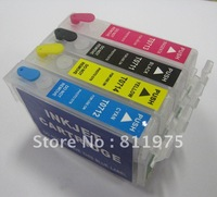 Free Shipping 10sets/lot T0711 T0712 T0713 T0714 refillable ink cartridge for epson DX7400 DX7450 DX8000 DX8450 DX8000 DX9400F