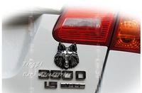 Free shipping/Car modified sticker/Very Cool wolf head Auto body 3D stereo metal modified Sticker/Wholesale + Retail