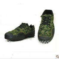 Training with camouflage shoes. Hiking, hunting, training shoes