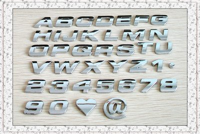 Popular 3d Chrome Letters Numbers Buy Popular 3d Chrome
