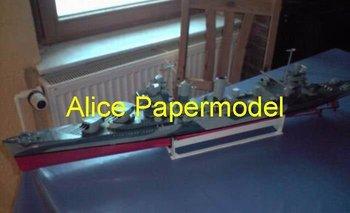 [Alice papermodel] Long 90CM 1:200 WWII US Heavy Cruiser CA 38 USS San Francisco battleship military models