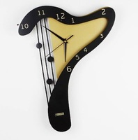 Настенные часы Black, wrought iron desk clock|Mute desk clock| Lazybones Alarm Clock |shipping1pcs/lot