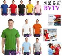 100% Cotton Round Neck Short Sleeve Men's Stylish T Shirts Dense Materials 10pcs/lot Wholesale Low Price Blank Plain Design