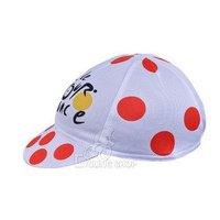 Cycling Hat Tour de France red spots 2012 Cap cycle pirates Bike bicycle sweat