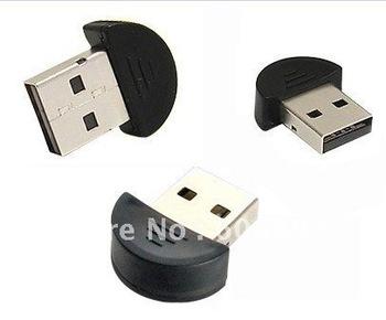 Free shipping 10pcs/lot Smallest 2.0 Mini USB Bluetooth Adapter V2.0 EDR USB Dongle drop shipping