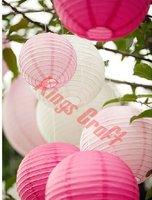 38PCS Mixed Differtent siz 10~ 40cm Paper Lanterns For Wedding Birthday Party Decoration, Lanterns Lamp Free Shipping