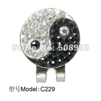 Newest Crystal  Golf Ball Marker & Hat Clip - Fashion Hot Sale Golf Promotional accessory  Wholesale