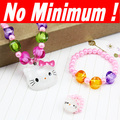 Cute Pink Kids children&#39;s Hello Kitty pearl Jewelry jewellery Sets ( 3 items) nke-g74