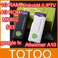 $83 Only! MK802 Mini PC,Mini Android4.0 dongle, android IPTV,google tv,smart android box,allwinner A10, 1GB DDR3,Flash 10.3