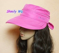 HOT!New 2012 Uv bowknot of female money hat modern And comely lovely amphibious sunbonnet Hat Free shipping!