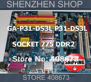 775 motherboard ATX GA-P31-DS3L P31-DS3L LGA775 for Pentium Intel CPU Free ship airmail